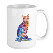 Whimsical Elegant Cat Mug