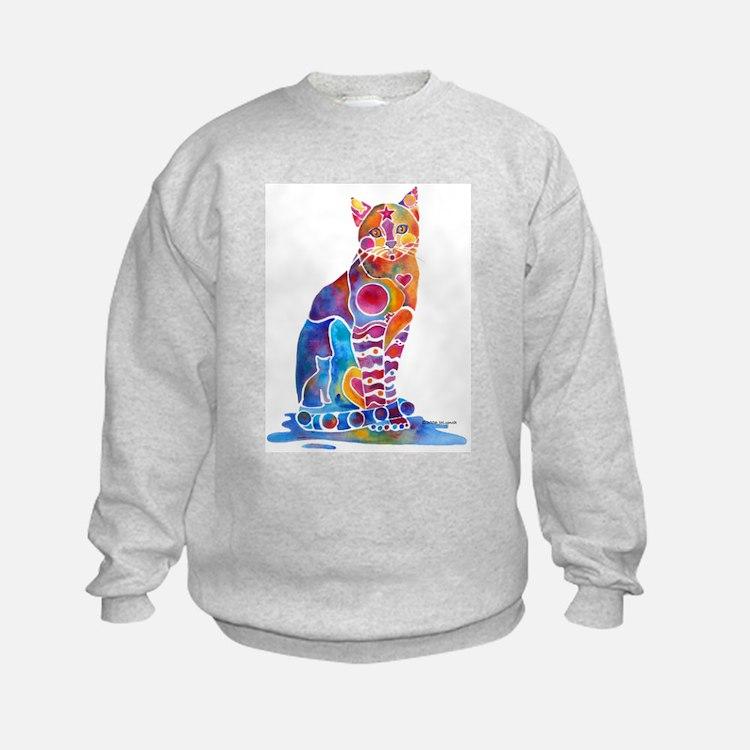 Whimsical Elegant Cat Sweatshirt