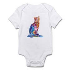 Whimsical Elegant Cat Infant Bodysuit
