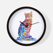 Whimsical Elegant Cat Wall Clock