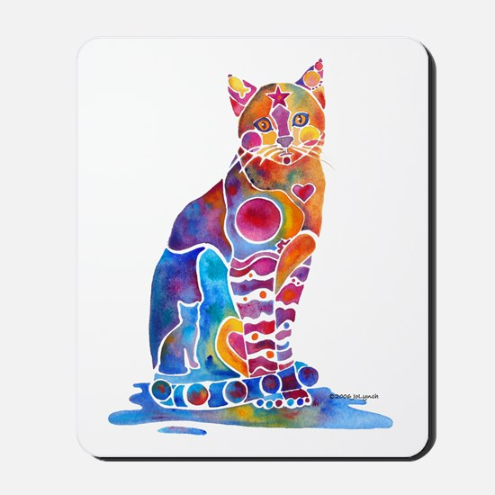 Whimsical Elegant Cat Mousepad