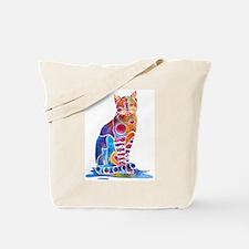 Whimsical Elegant Cat Tote Bag