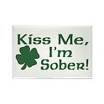 Kiss Me I'm Sober Rectangle Magnet (10 pack)