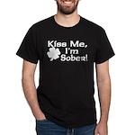 Kiss Me I'm Sober Dark T-Shirt