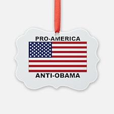 PRO AMERICA ANTI OBAMA-01 Ornament