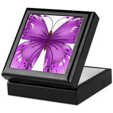 Awareness Butterfly Keepsake Box