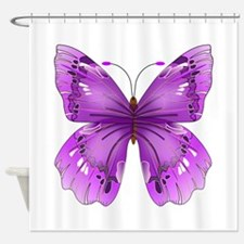 Awareness Butterfly Shower Curtain