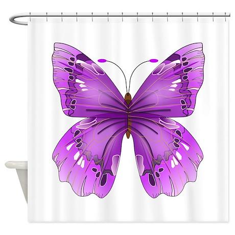 awareness butterfly shower curtain