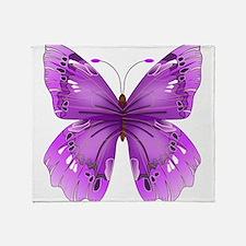 Awareness Butterfly Throw Blanket