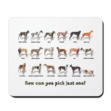Greyhound Colors Mousepad