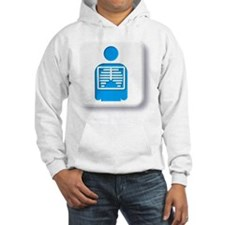 Radiology symbol against white b Hoodie