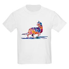 Whimzical Cinnamon Cat Kids T-Shirt