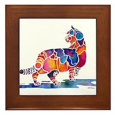 Whimzical Cinnamon Cat Framed Tile