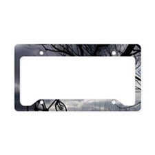 Trekking bicycle and tree License Plate Holder