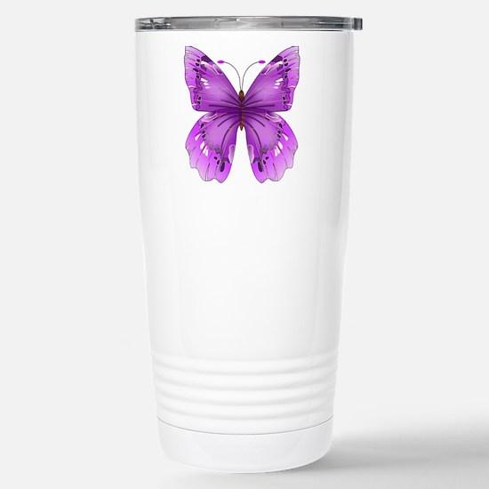 Awareness Butterfly Travel Mug