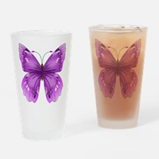 Awareness Butterfly Drinking Glass