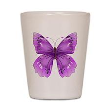 Awareness Butterfly Shot Glass