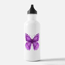 Awareness Butterfly Water Bottle