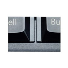 Buy and sell text Rectangle Magnet