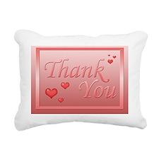 Thank you - pink Rectangular Canvas Pillow