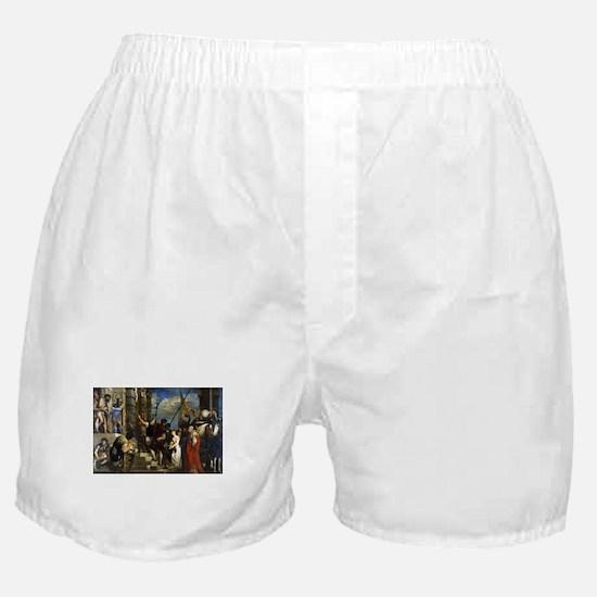 Ecce Homo - Titian - 1543 Boxer Shorts