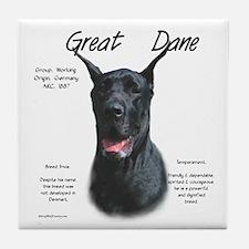 Great Dane (black) Tile Coaster