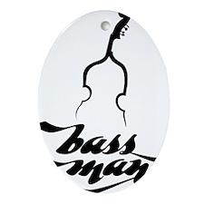 BassMan-01-a Oval Ornament