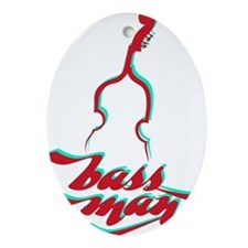 BassMan-03-a Oval Ornament