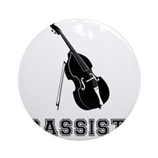 Bassist-01-a Round Ornament