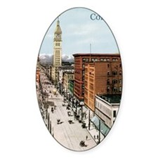Vintage Colorado Street Scene Decal