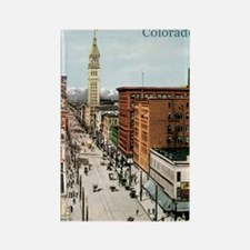 Vintage Colorado Street Scene Rectangle Magnet