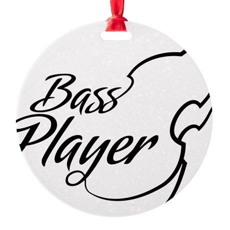Bass-Player-01-a Round Ornament