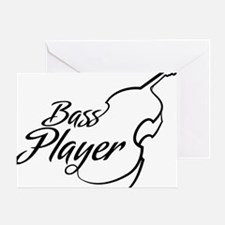 Bass-Player-01-a Greeting Card