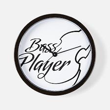 Bass-Player-01-a Wall Clock