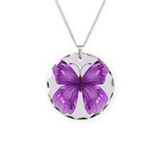 Awareness Butterfly Necklace