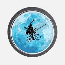 Cycling-in-Moonlight Wall Clock