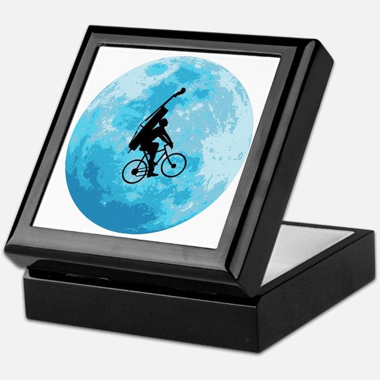Cycling-in-Moonlight Keepsake Box
