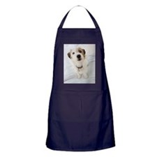Dog in home and on bed Apron (dark)