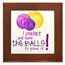 I crochet... Framed Tile