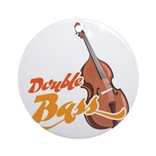 Double-Bass-001 Round Ornament