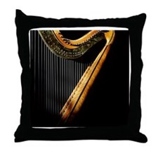 Harp in sunlight Throw Pillow