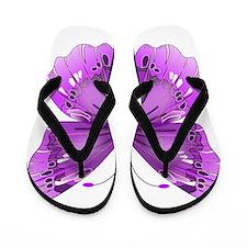 Awareness Butterfly Flip Flops