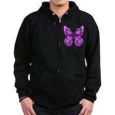 Awareness Butterfly Zip Hoodie