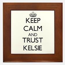 Keep Calm and trust Kelsie Framed Tile