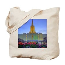 This is a picture of the Jordan River Tem Tote Bag