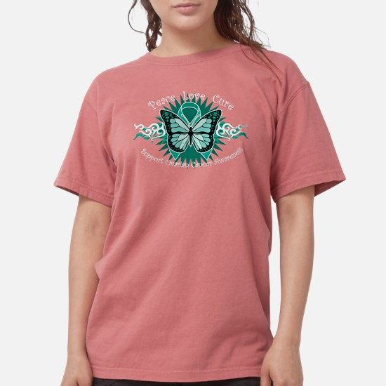 Ovarian Cancer Butterfly T-Shirt