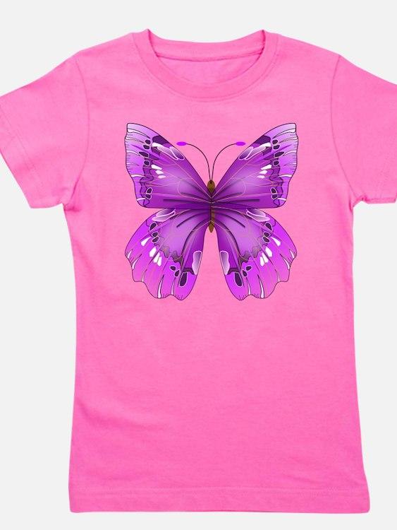Awareness Butterfly Girl's Tee