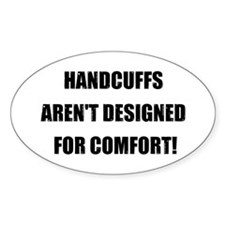 Handcuffs Comfort Oval Decal