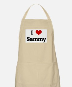 I Love Sammy BBQ Apron