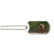 Tiger in forest Dog Tags